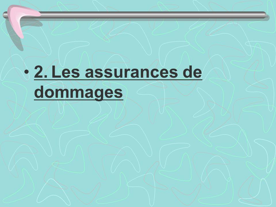 2.Les assurances de dommages