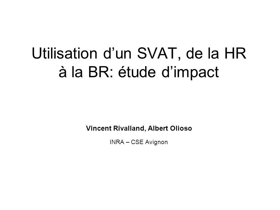 Utilisation dun SVAT, de la HR à la BR: étude dimpact Vincent Rivalland, Albert Olioso INRA – CSE Avignon
