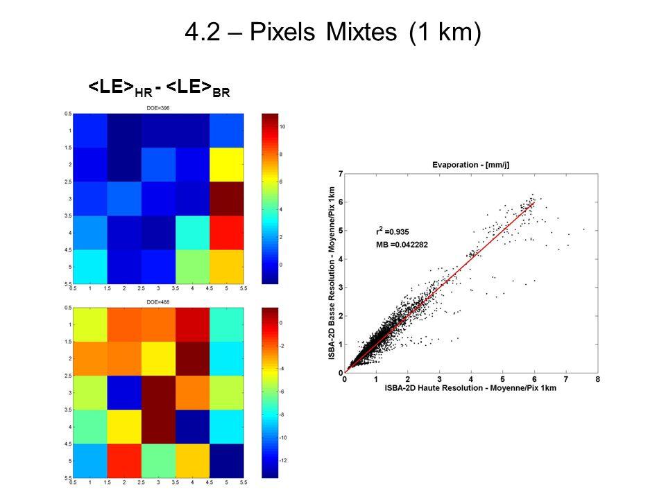4.2 – Pixels Mixtes (1 km) HR - BR