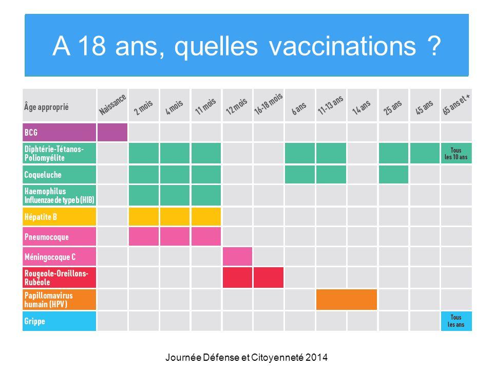 Et maintenant Que pensez-vous de la vaccination ? Journée Défense et Citoyenneté 2014