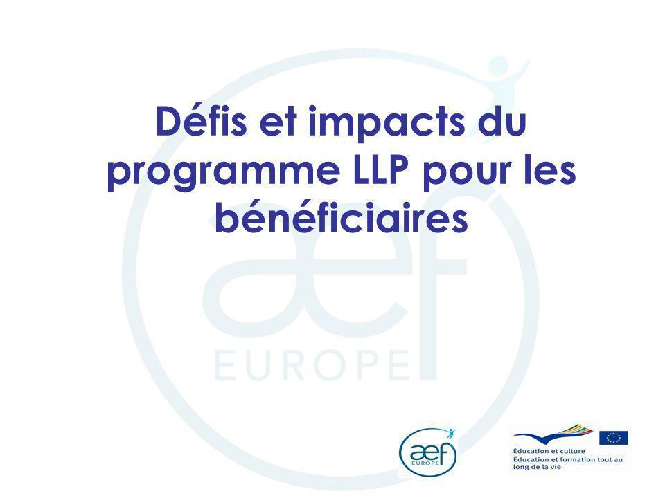 Défis et impacts du programme LLP pour les bénéficiaires