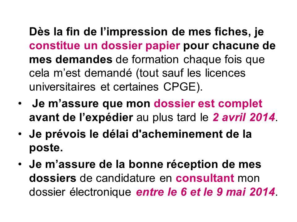3 ème étape Propositions dadmission et réponses des candidats du 23 juin au 19 juillet 2014