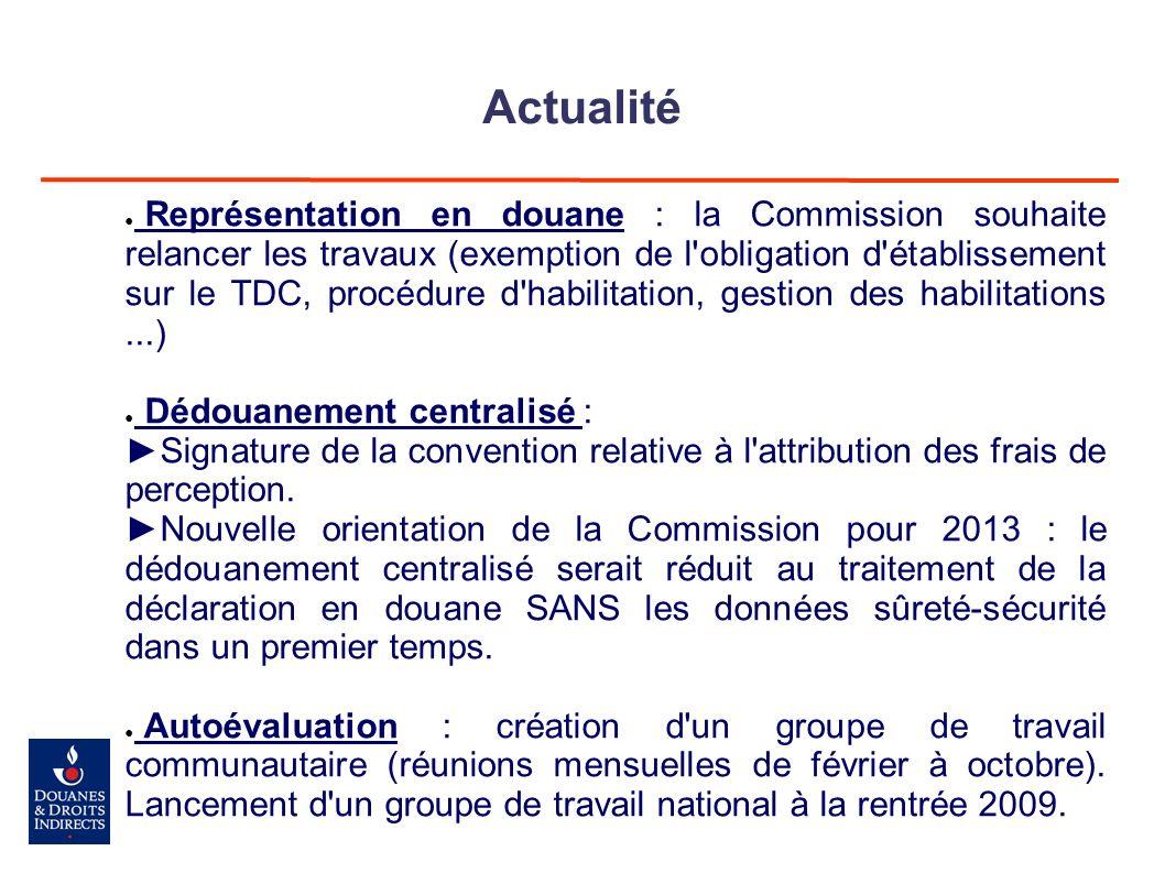 Actualité Représentation en douane : la Commission souhaite relancer les travaux (exemption de l'obligation d'établissement sur le TDC, procédure d'ha
