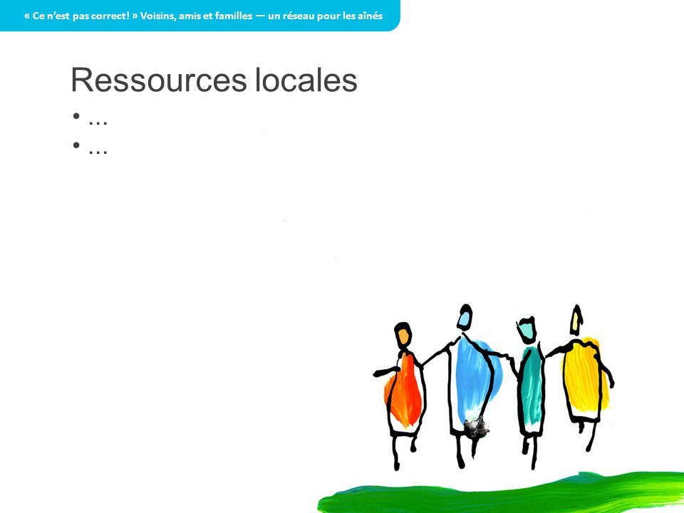 Ressources locales...