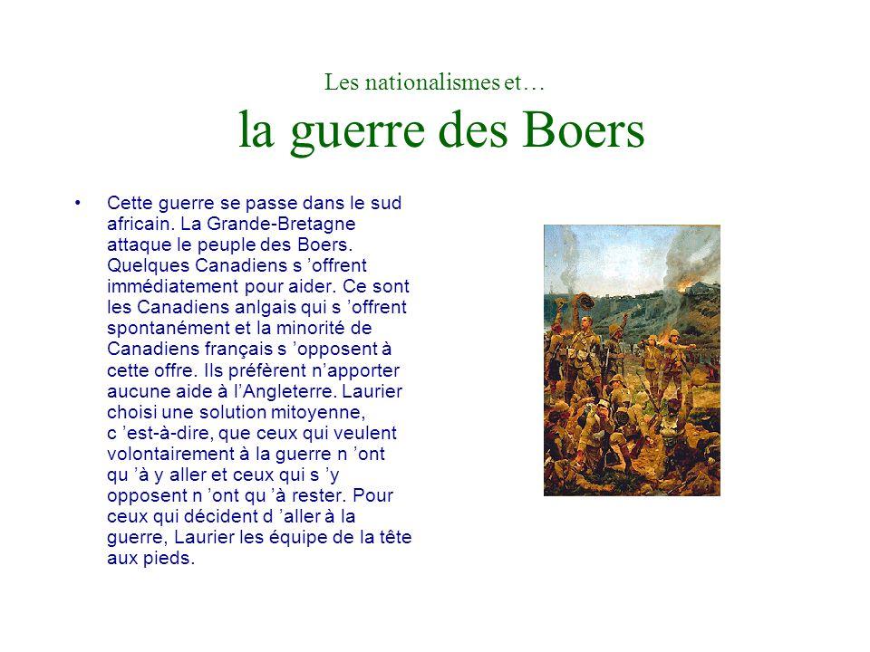 Les nationalismes et… le projet de libre-échange Canada / États-Unis de Wilfrid Laurier En 1911, Wilfrid Laurier procède à la dernière tentative de négociation pour ce qui concerne la réciprocité.