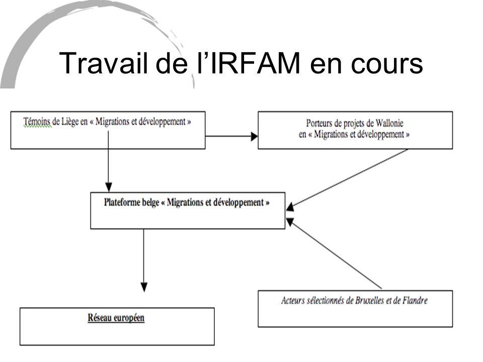 Travail de lIRFAM en cours