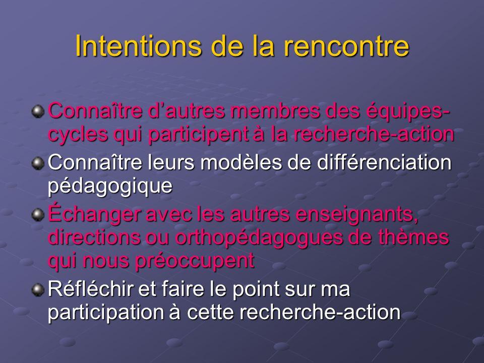 ACTIVITÉ 2A Discussion thématique des différents professionnels qui participent à la recherche