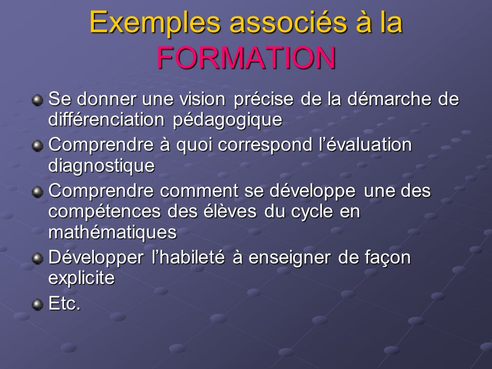 Exemples associés à lACTION Mettre en œuvre un projet de décloisonnement en lecture Développer un support visuel commun des stratégies dapprentissage