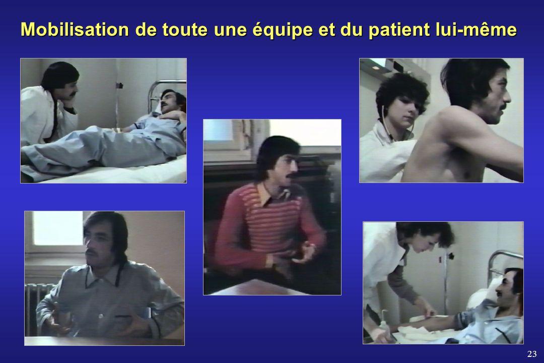 23 Mobilisation de toute une équipe et du patient lui-même
