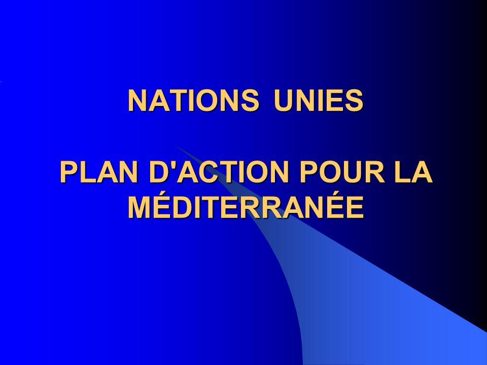NATIONS UNIES PLAN D'ACTION POUR LA MÉDITERRANÉE