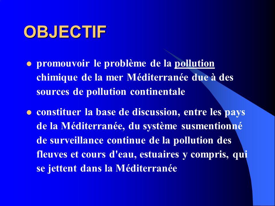 OBJECTIF promouvoir le problème de la pollution chimique de la mer Méditerranée due à des sources de pollution continentale constituer la base de disc