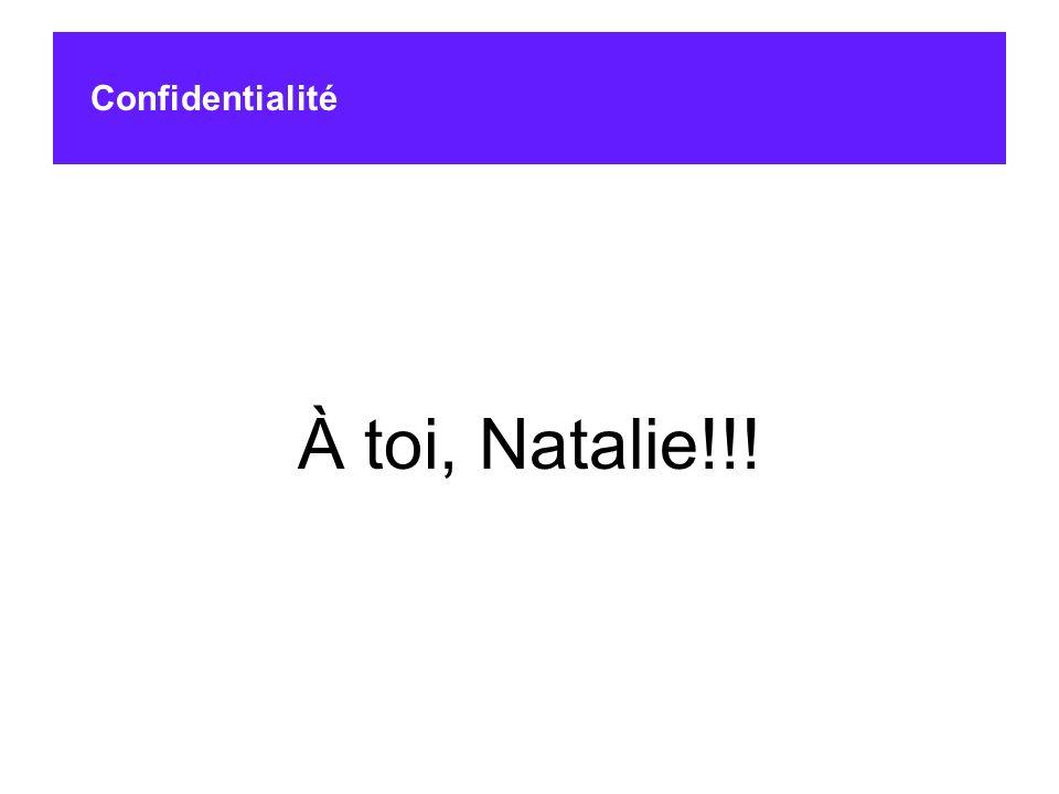 À toi, Natalie!!! Confidentialité