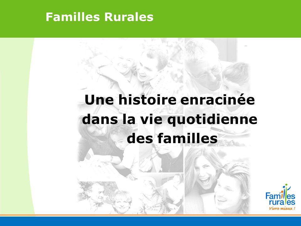 Familles Rurales Une histoire enracinée dans la vie quotidienne des familles