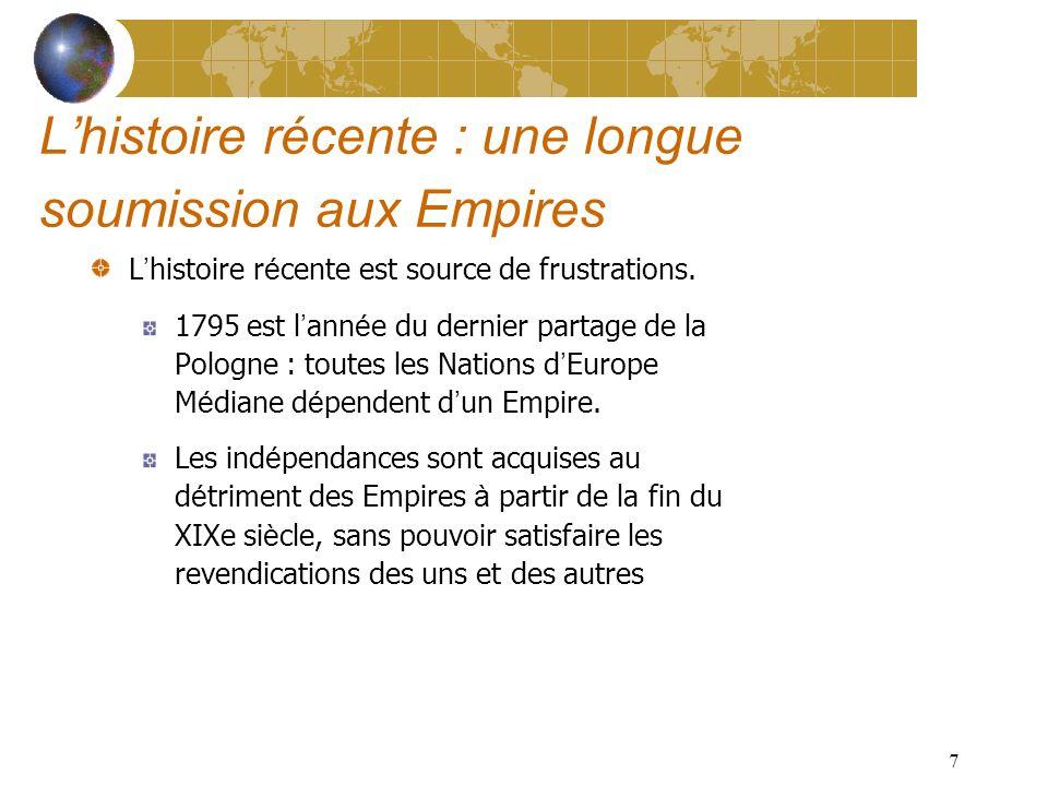 7 Lhistoire récente : une longue soumission aux Empires L histoire r é cente est source de frustrations.