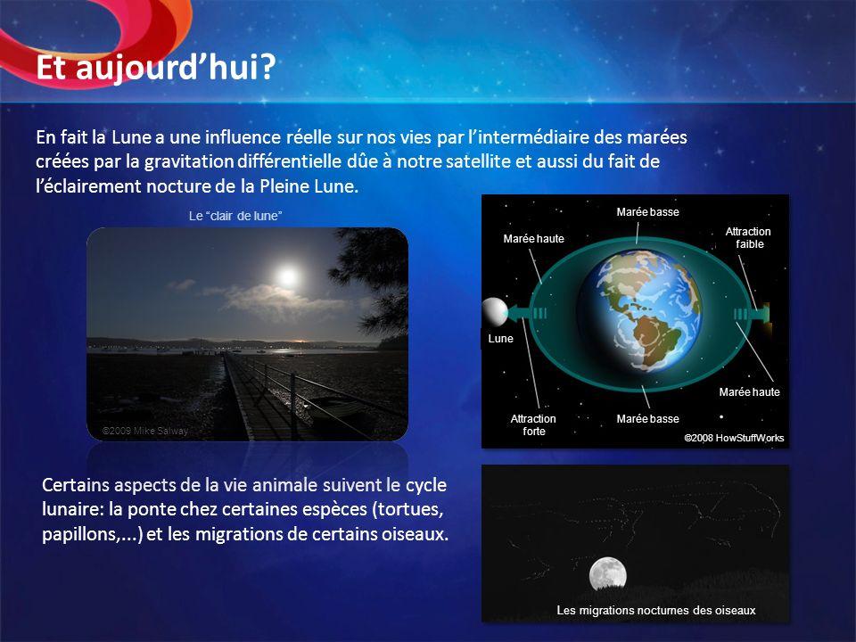 En fait la Lune a une influence réelle sur nos vies par lintermédiaire des marées créées par la gravitation différentielle dûe à notre satellite et au