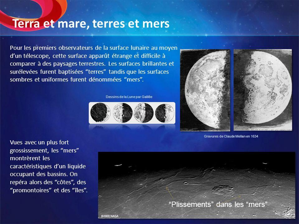 Pour les premiers observateurs de la surface lunaire au moyen dun télescope, cette surface apparût étrange et difficile à comparer à des paysages terr