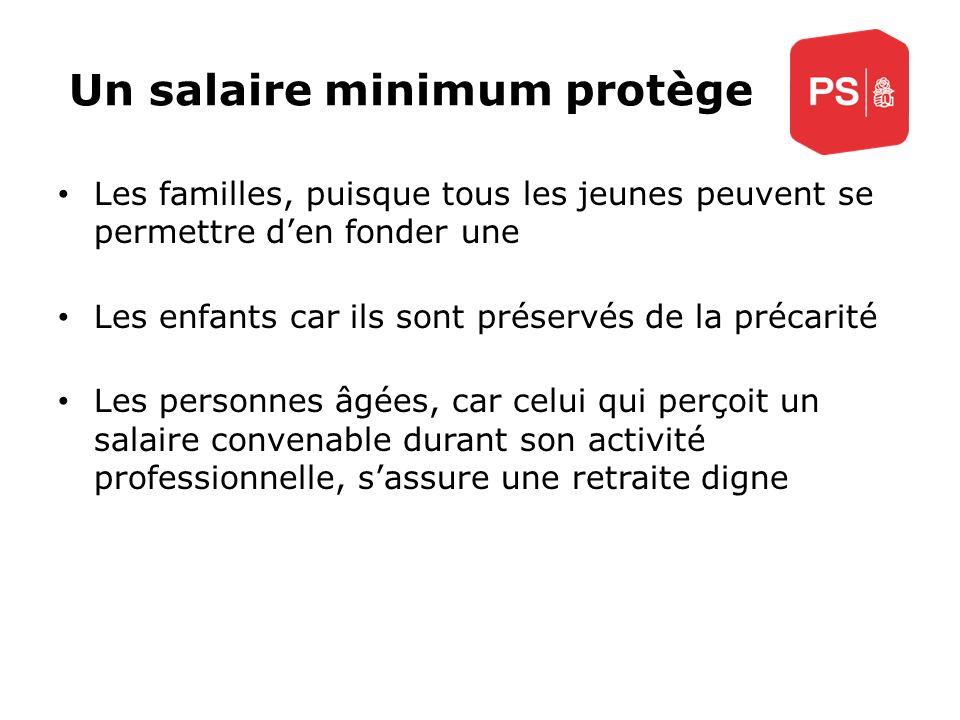 Un salaire minimum protège Les familles, puisque tous les jeunes peuvent se permettre den fonder une Les enfants car ils sont préservés de la précarit