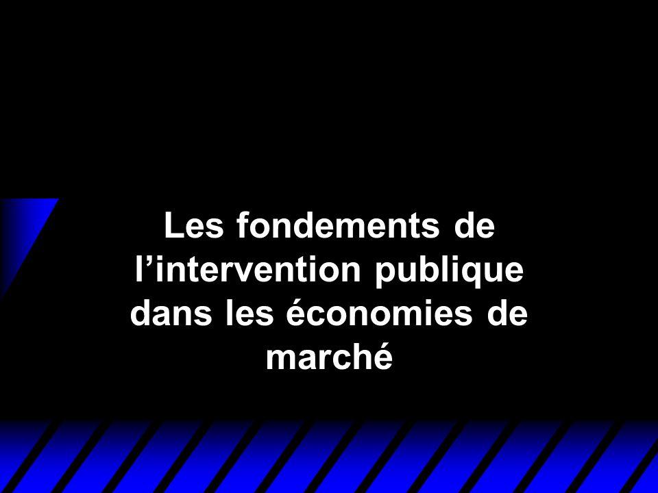 Les fondements de lintervention publique dans les économies de marché