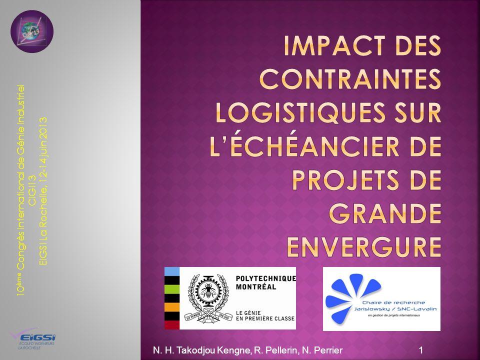 10 ème Congrès International de Génie Industriel CIGI13 EIGSI La Rochelle, 12-14 juin 2013 N.