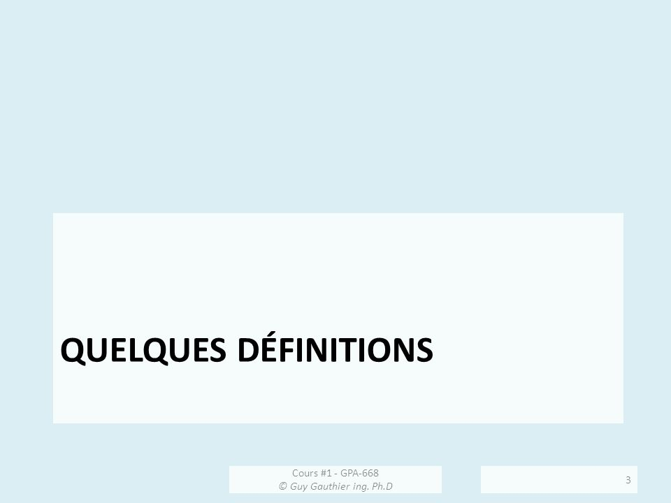 Composantes dun capteur Lexemple dun capteur de pression servira à introduire certaines définitions: Cours #1 - GPA-668 © Guy Gauthier ing.