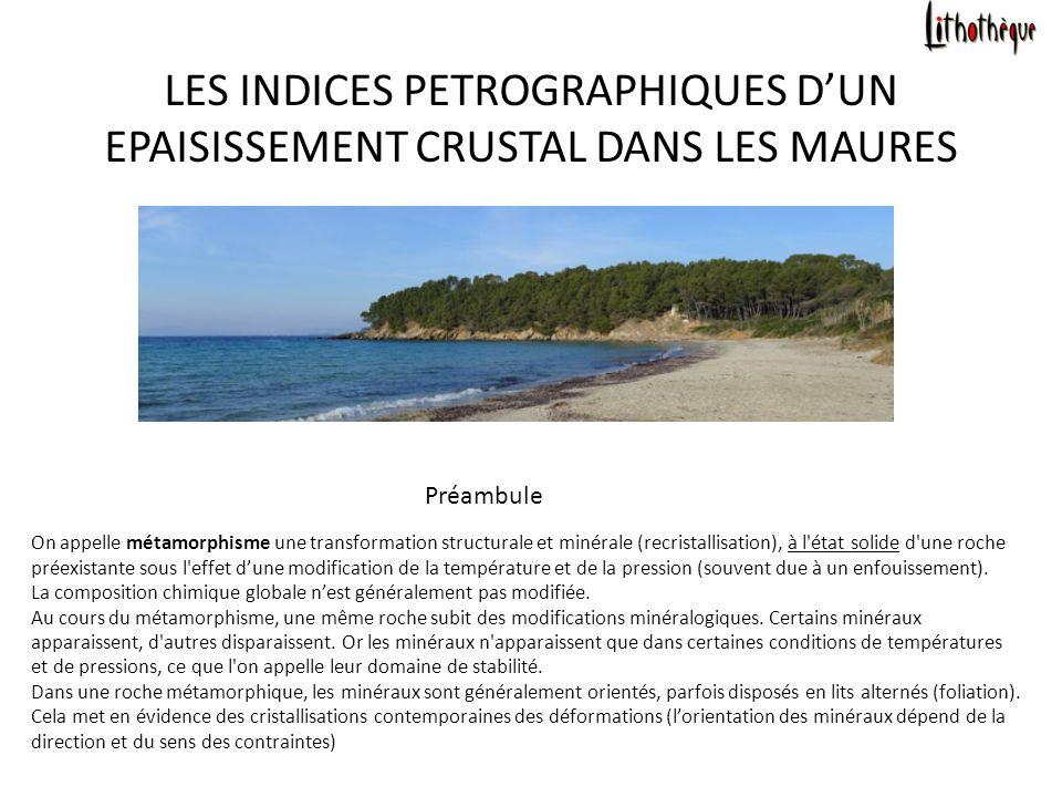 Préambule On appelle métamorphisme une transformation structurale et minérale (recristallisation), à l état solide d une roche préexistante sous l effet dune modification de la température et de la pression (souvent due à un enfouissement).