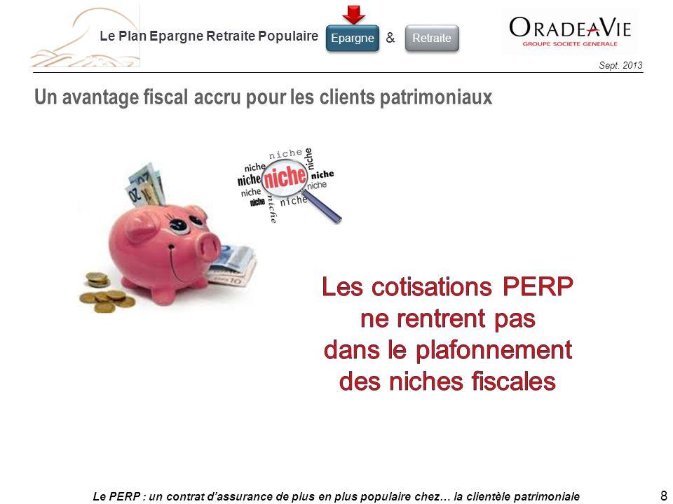Le PERP : un contrat dassurance de plus en plus populaire chez… la clientèle patrimoniale 8 Sept. 2013 Un avantage fiscal accru pour les clients patri