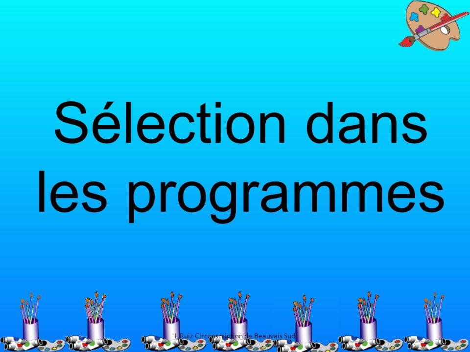 Sélection dans les programmes L Ruiz Circonscription de Beauvais Sud
