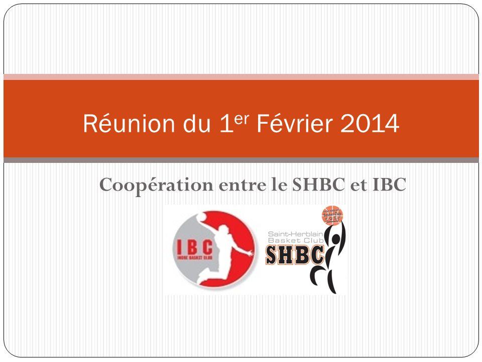 Coopération entre le SHBC et IBC Réunion du 1 er Février 2014