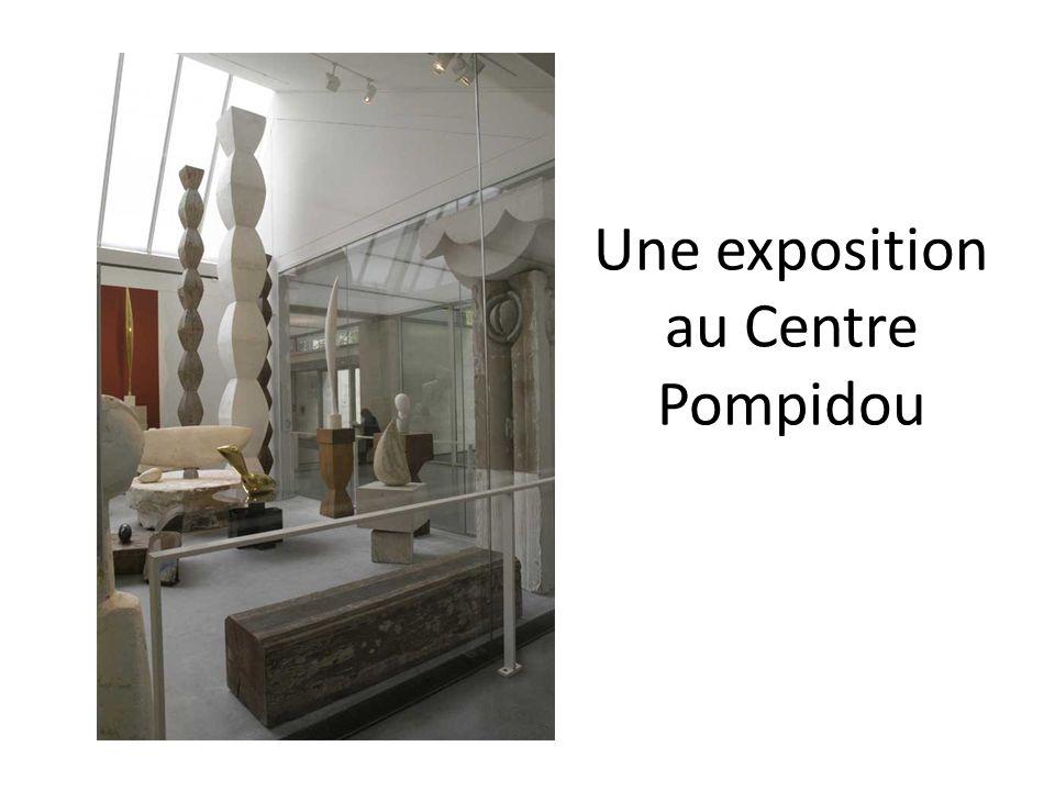 Une exposition au Centre Pompidou