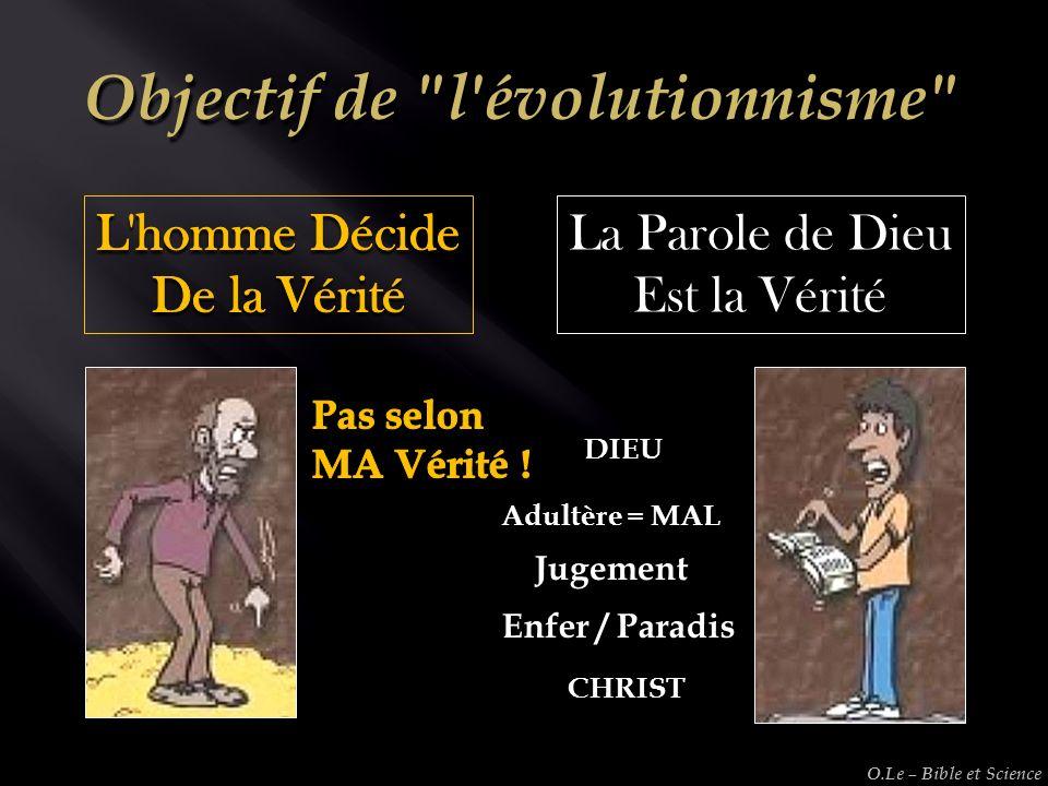 La Parole de Dieu Est la Vérité Adultère = MAL Jugement Enfer / Paradis DIEU CHRIST O.Le – Bible et Science