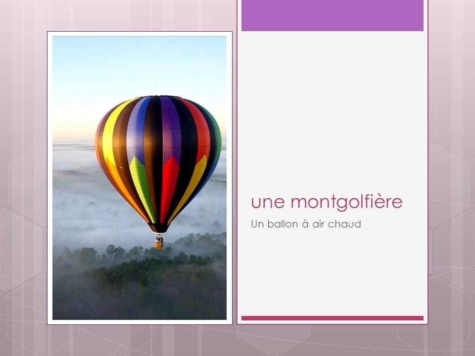 une montgolfière Un ballon à air chaud