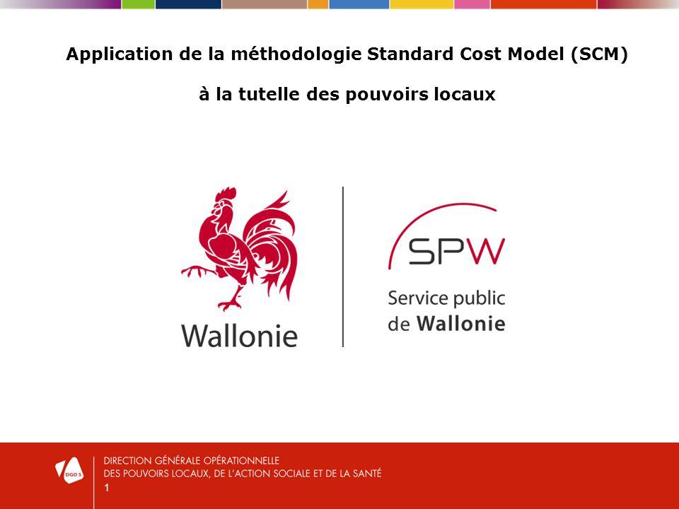 1 Application de la méthodologie Standard Cost Model (SCM) à la tutelle des pouvoirs locaux