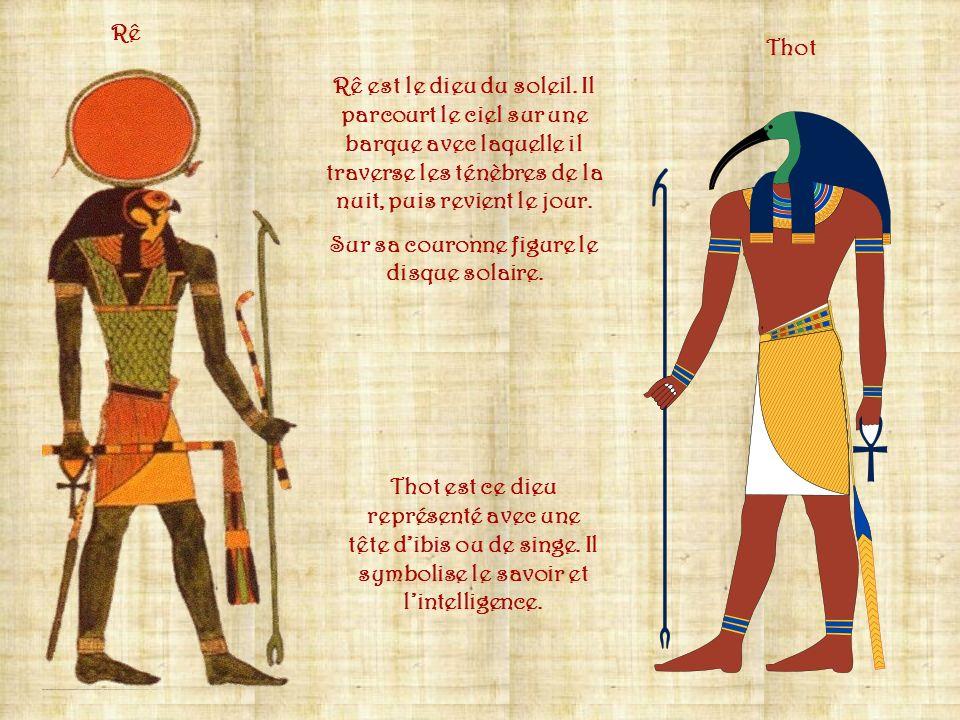 La religion égyptienne est polythéiste et nombreuses sont les divinités vénérées. Ce sont des animaux sacrés, des créatures imaginaires sous aspect mi