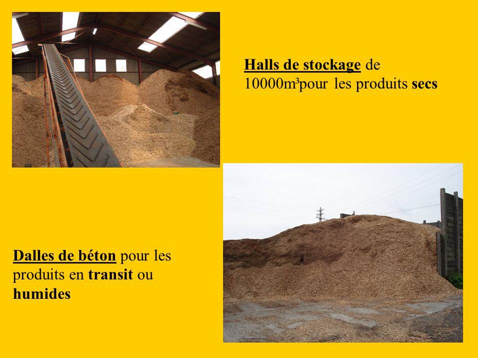 Halls de stockage de 10000m³pour les produits secs Dalles de béton pour les produits en transit ou humides