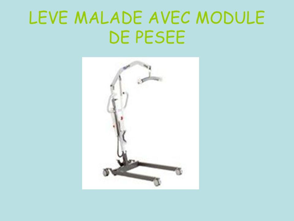 LEVE MALADE AVEC MODULE DE PESEE