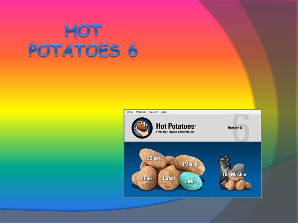 1) Lancer JMatch 2 options 1) Démarrer / Programmes / Hot Potatoes 6 / JMatch 2) Raccourci Hot Potatoes 6 Fenêtre dattente Sélection de la patate JMatch