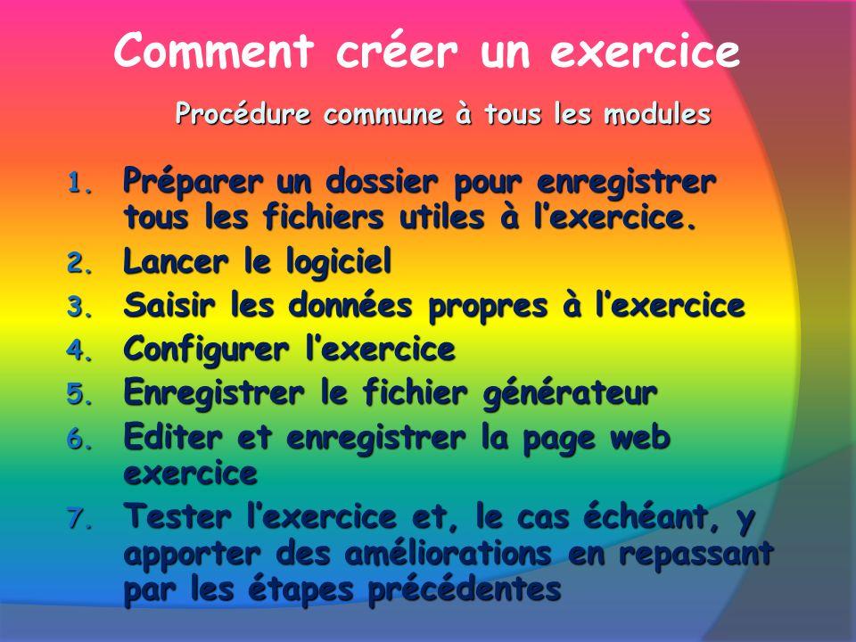 Comment créer un exercice 1.