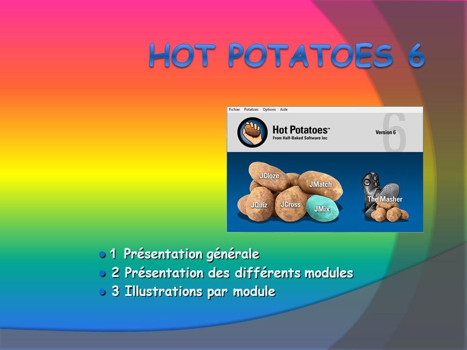 1) Lancer JCloze 2 options 1) Démarrer / Programmes / Hot Potatoes 6 / JCloze 2) Raccourci Hot Potatoes 6 Fenêtre dattente Sélection de la patate JCloze