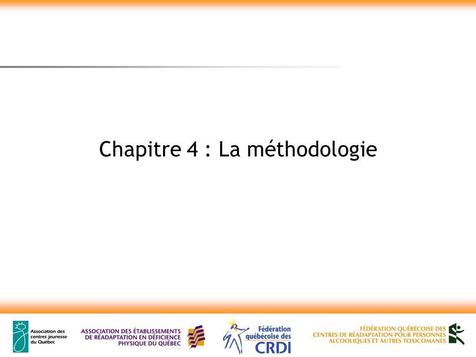 Chapitre 4 : La méthodologie