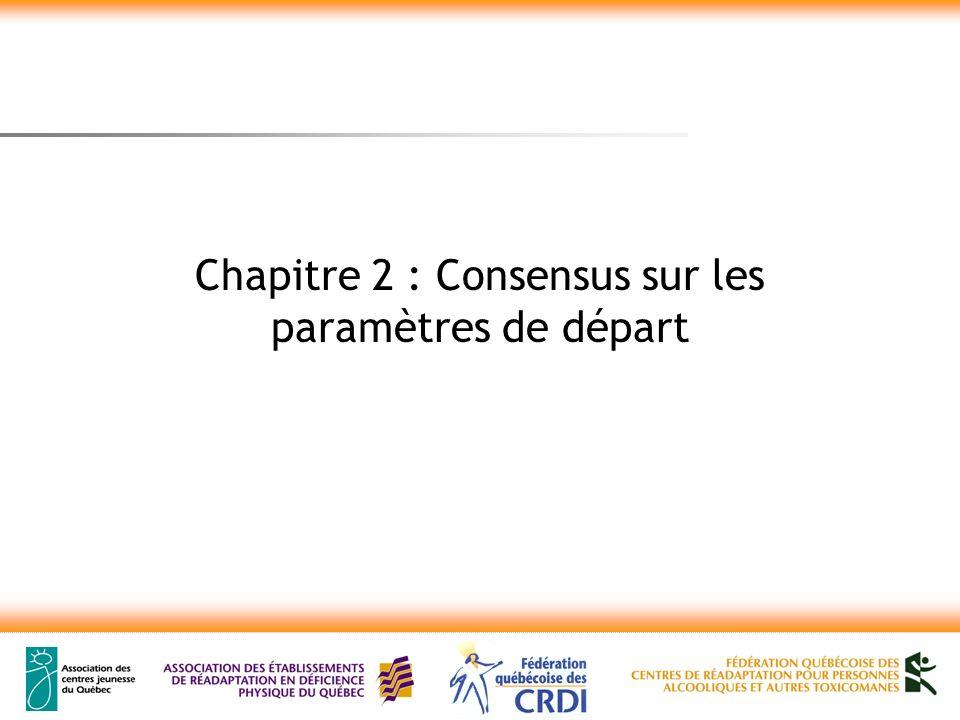Chapitre 2 : Consensus sur les paramètres de départ