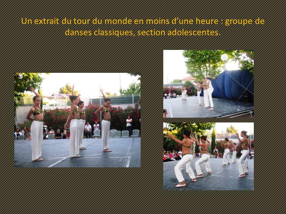Un extrait du tour du monde en moins dune heure : groupe de danses classiques, section adolescentes.