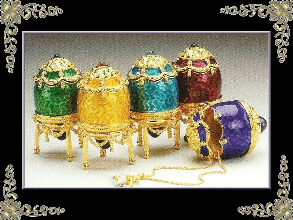 Des 47 œufs qui nous sont connus, dix sont conservés à Moscou, au Kremlin, onze font partie de la collection Forbes à New York, seize sont détenus par d autres américains, huit sont dans les collections privées européennes et deux œufs échappent à toute localisation...