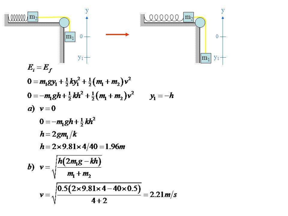 Exercice 3 Deux blocs de masses m1 = 5kg et m2 = 3kg sont reliés par un fil de masse négligeable qui passe sur deux poulies sans frottement (figure ci-dessous).