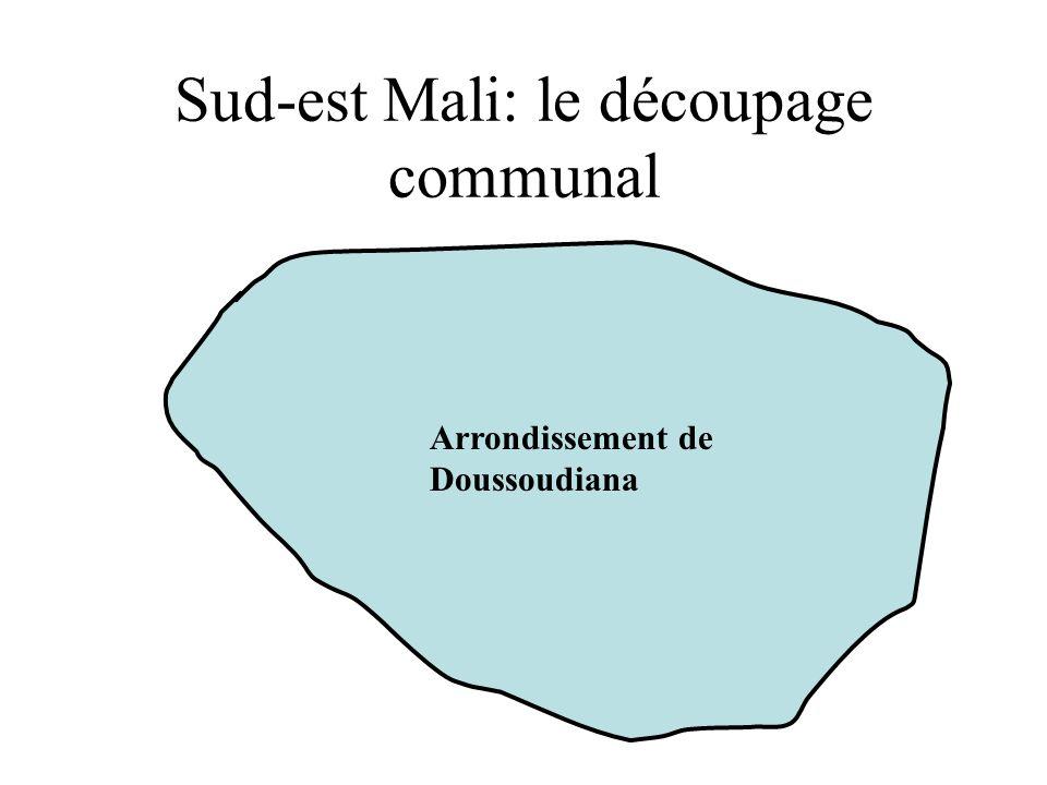 Sud-est Mali: le découpage communal Arrondissement de Doussoudiana