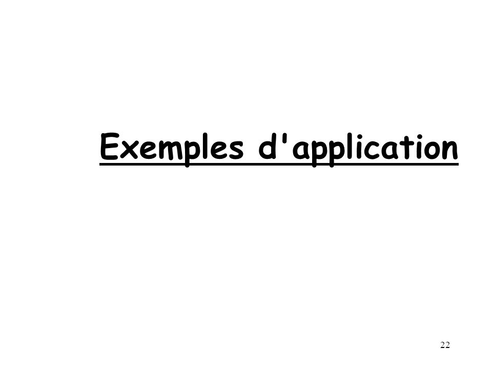 22 Exemples d application