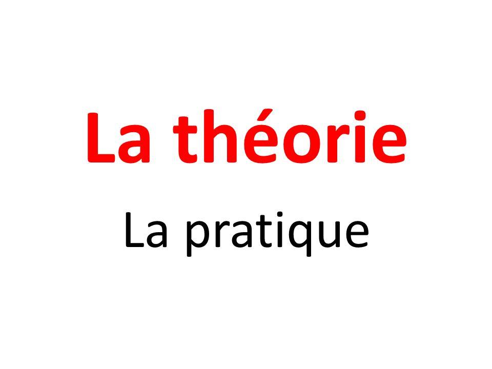La théorie La pratique