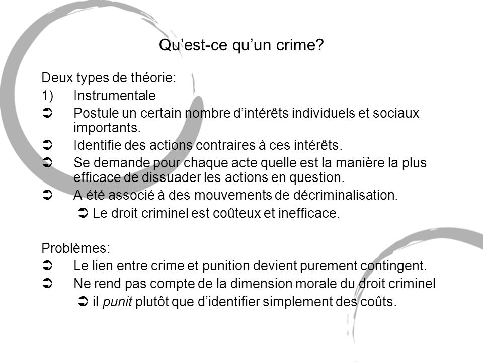 Quest-ce quun crime.