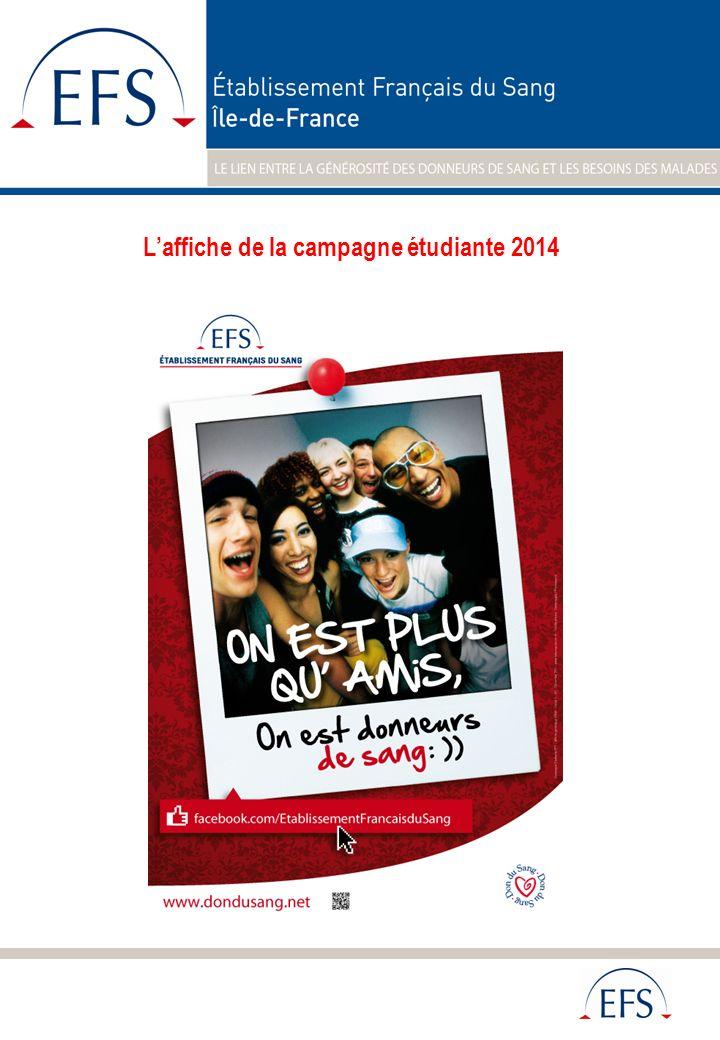 Laffiche de la campagne étudiante 2014