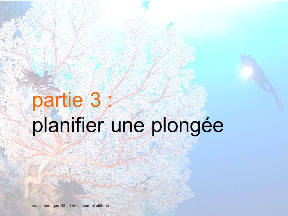 22 interne Orange cours théorique N3 – Ordinateurs et altitude partie 3 : planifier une plongée