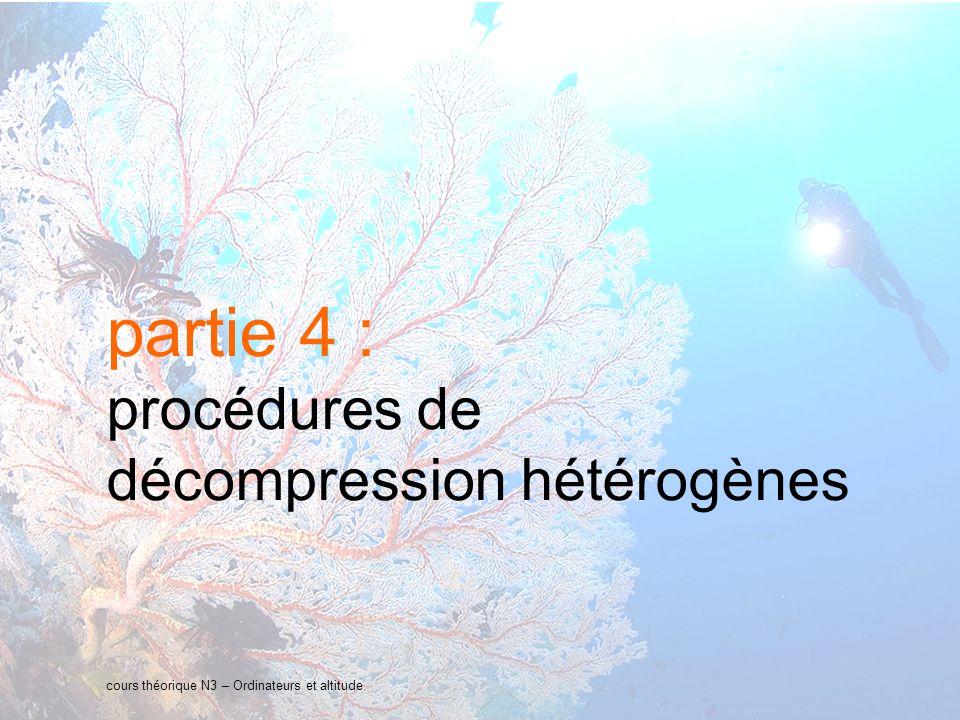 25 interne Orange cours théorique N3 – Ordinateurs et altitude partie 4 : procédures de décompression hétérogènes